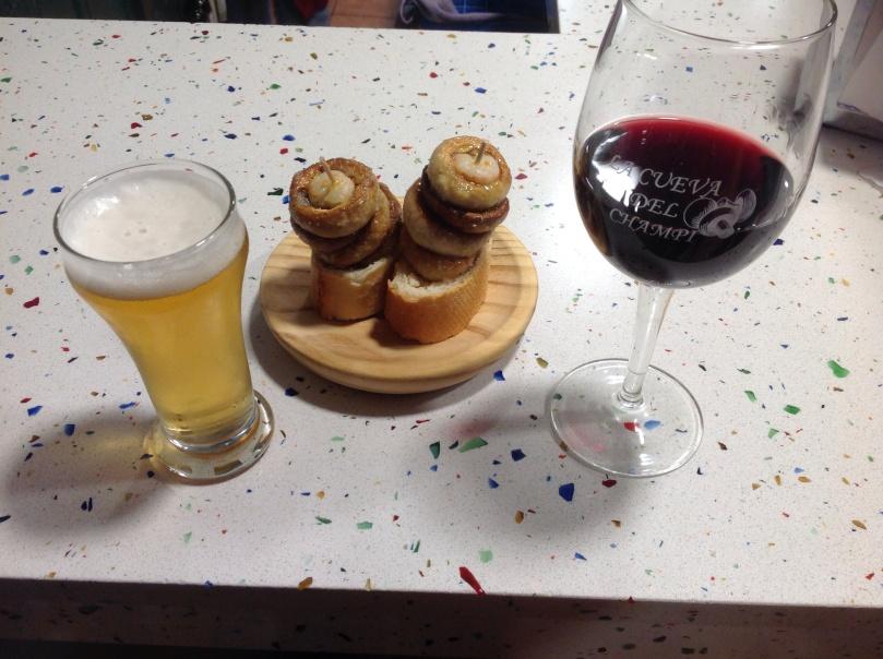 マッシュルーム専門のバル(bar)で一杯!スペイン、ログローニョ(Logroño)にて