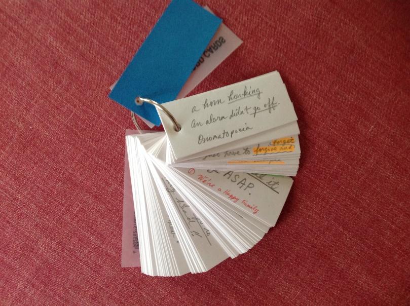 自分用の単語帳、覚えたカードはどんどん捨てましょう!単語帳は覚えるためのもの、コレクションではダメですよ!