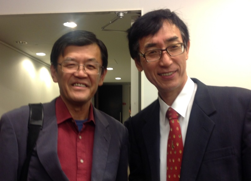 NHKスペイン語講座の福嶌教隆先生と!大学の先輩でもあります。