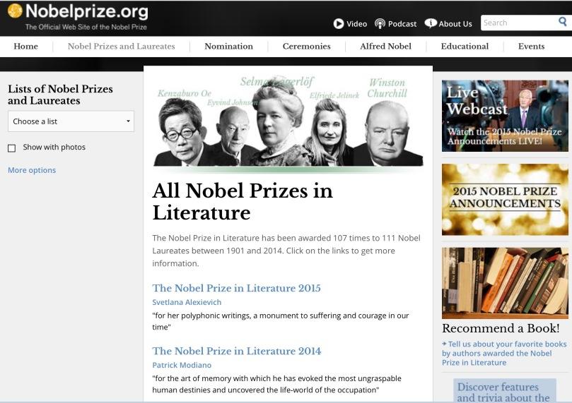 http://www.nobelprize.org/nobel_prizes/literature/laureates/index.html