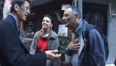 フランスのマルセーユから来られたご夫婦!日本は初めてだけど、日本人は親切で何の問題なかったと嬉しそうでした!